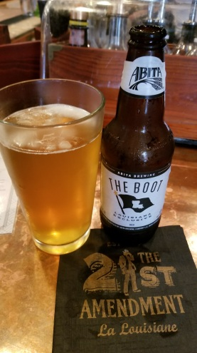 The Boot is a locally brewed beer.