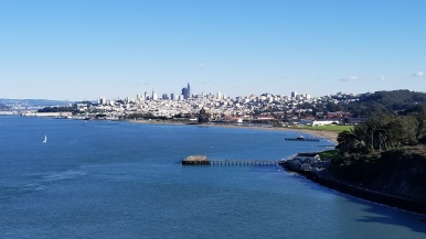Views of Downtown San Francisco from the bridge