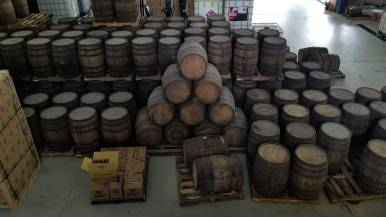John Watlings Distillery Barrels